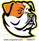 Vector Clip Art of Retro American Bulldog Dog Mascot by Patrimonio