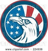 Vector Clip Art of Retro American Eagle and Flag Circle Logo by Patrimonio