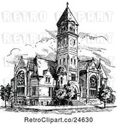Vector Clip Art of Retro Ancient Church by Prawny Vintage