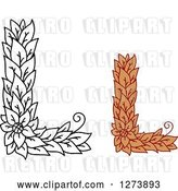 Vector Clip Art of Retro and Colored Floral Capital Letter L Designs by Vector Tradition SM