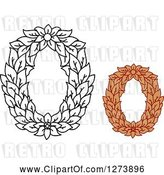 Vector Clip Art of Retro and Colored Floral Capital Letter O Designs by Vector Tradition SM