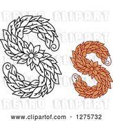 Vector Clip Art of Retro and Colored Floral Capital Letter S Designs by Vector Tradition SM