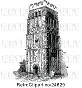 Vector Clip Art of Retro Anglo Saxon Earls Barton Church by Prawny Vintage