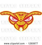 Vector Clip Art of Retro Angry Hornet Face by Patrimonio