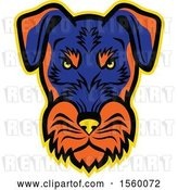 Vector Clip Art of Retro Angry Jagdterrier Dog Mascot by Patrimonio