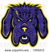 Vector Clip Art of Retro Angry Newfoundland Dog Mascot Head by Patrimonio