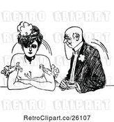Vector Clip Art of Retro Annoyed Lady and Old Suitor by Prawny Vintage