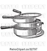 Vector Clip Art of Retro Antique Hot Plate or Grill in by Picsburg