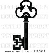Vector Clip Art of Retro Antique Skeleton Key 8 by Vector Tradition SM