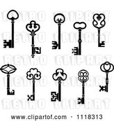 Vector Clip Art of Retro Antique Skeleton Keys by Vector Tradition SM