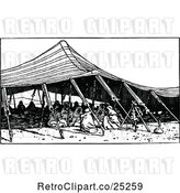 Vector Clip Art of Retro Arab Tent by Prawny Vintage
