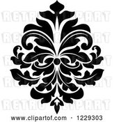 Vector Clip Art of Retro Arabesque Damask Design 11 by Vector Tradition SM