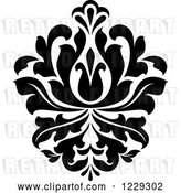 Vector Clip Art of Retro Arabesque Damask Design 12 by Vector Tradition SM