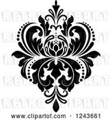 Vector Clip Art of Retro Arabesque Damask Design 21 by Vector Tradition SM