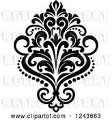 Vector Clip Art of Retro Arabesque Damask Design 23 by Vector Tradition SM