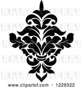 Vector Clip Art of Retro Arabesque Damask Design 4 by Vector Tradition SM