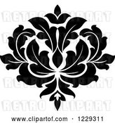 Vector Clip Art of Retro Arabesque Damask Design 5 by Vector Tradition SM
