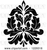 Vector Clip Art of Retro Arabesque Damask Design 6 by Vector Tradition SM