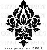 Vector Clip Art of Retro Arabesque Damask Design by Vector Tradition SM