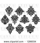 Vector Clip Art of Retro Arabesque Damask Designs 10 by Vector Tradition SM
