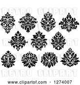 Vector Clip Art of Retro Arabesque Damask Designs 6 by Vector Tradition SM