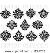 Vector Clip Art of Retro Arabesque Damask Designs 7 by Vector Tradition SM