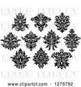 Vector Clip Art of Retro Arabesque Damask Designs 9 by Vector Tradition SM