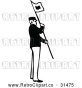 March 21st, 2018: Vector Clip Art of Retro Army Soldier with a Flag 1 by Prawny Vintage