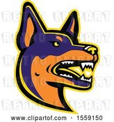 Vector Clip Art of Retro Australian Kelpie Dog Mascot by Patrimonio