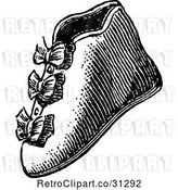 Vector Clip Art of Retro Baby Boot Shoe by Prawny Vintage