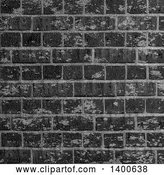 Vector Clip Art of Retro Background of a Black Industrial Brick Wall by KJ Pargeter