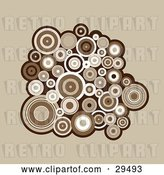 Vector Clip Art of Retro Background of a Cluster of Brown and White Circles by KJ Pargeter
