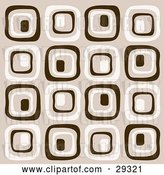 Vector Clip Art of Retro Background of Brown and Beige Squares by KJ Pargeter