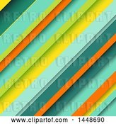 Vector Clip Art of Retro Background of Colored Diagonal Stripes by KJ Pargeter