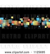 Vector Clip Art of Retro Background of Colorful Squares on Black 2 by Michaeltravers