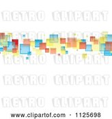 Vector Clip Art of Retro Background of Colorful Squares on White by Michaeltravers
