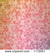 Vector Clip Art of Retro Background of Colorful Triangles by KJ Pargeter