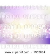 Vector Clip Art of Retro Background of Flares and Busts in Purple and Gold Tones by KJ Pargeter