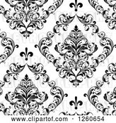 Vector Clip Art of Retro Background of Ornate Floral by OnFocusMedia