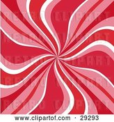 Vector Clip Art of Retro Background of Red, Pink and White Swirls by KJ Pargeter