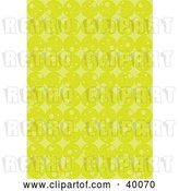 Vector Clip Art of Retro Background of Rows of Lime Green Circles by Suzib_100