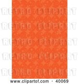 Vector Clip Art of Retro Background of Rows of Orange Circles by Suzib_100
