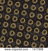 Vector Clip Art of Retro Background of Scribbled Circles on Black by KJ Pargeter