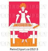 Vector Clip Art of Retro Baking Girl by Prawny Vintage