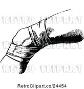 Vector Clip Art of Retro Bandaged Knee by Prawny Vintage