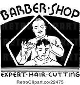 Vector Clip Art of Retro Barber Shop Sign by BestVector