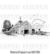 Vector Clip Art of Retro Barn by Prawny Vintage