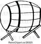 Vector Clip Art of Retro Barrel on a Stand by Prawny Vintage