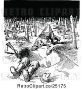 Vector Clip Art of Retro Battle Field After the Raid by Prawny Vintage