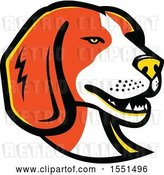 Vector Clip Art of Retro Beagle Dog Mascot Head by Patrimonio